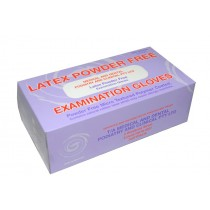 LATEX Powder Free Gloves - Single Box